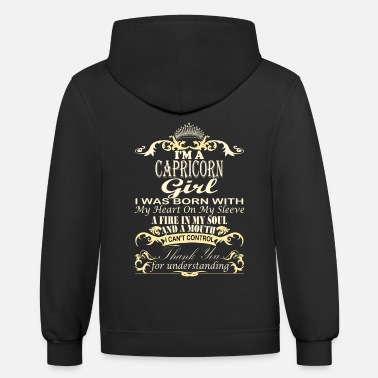 Horoscope I'm A Capricorn Girl - Unisex Two-Tone Hoodie