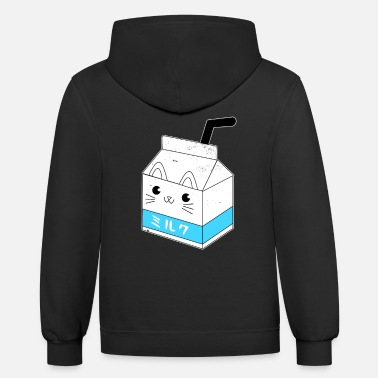 Japanese Japanese Milk Carton Shirt Kawaii Anime Shirt - Unisex Two-Tone Hoodie