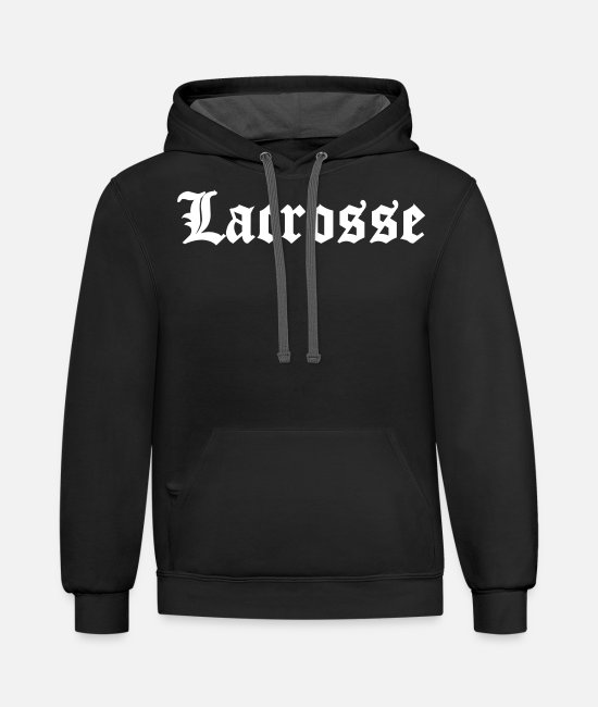 Girls Lacrosse Hoodies & Sweatshirts - Lacrosse - Unisex Two-Tone Hoodie black/asphalt