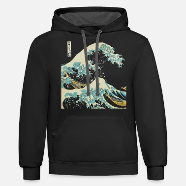 Art Kanagawa Japanese The Great Wave - Unisex Two-Tone Hoodie