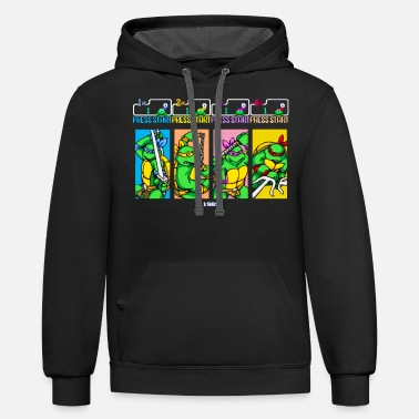 Select Your Turtle - Support Project Cowabunga - Unisex Two-Tone Hoodie