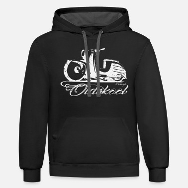 Rockabilly Simson schwalbe Eastgermany old school - Unisex Two-Tone Hoodie