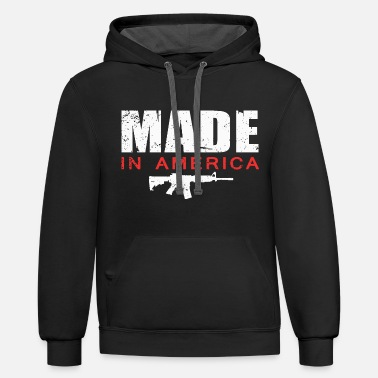 Gun Made In Usa - Unisex Two-Tone Hoodie