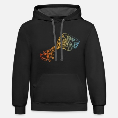 Chant Acoustic Guitar - Unisex Two-Tone Hoodie