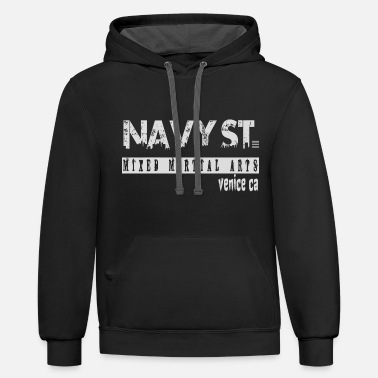 Navy Navy St. T-Shirt Vintage Design, Navy Street Shirt - Unisex Two-Tone Hoodie