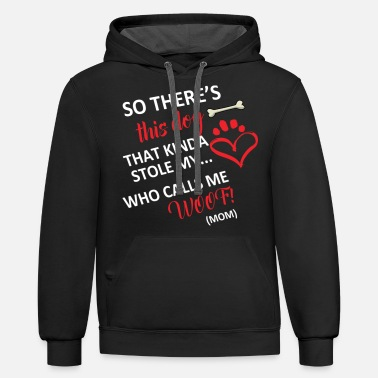 Dogsofinstaworld So There's This Dog That Kinda Stole My Heart - Unisex Two-Tone Hoodie