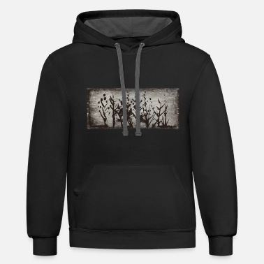 Trees forest trees - Unisex Two-Tone Hoodie