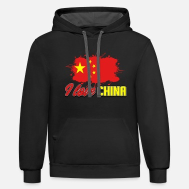 China China - Unisex Two-Tone Hoodie