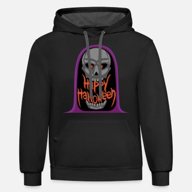 Death wishes you a happy Halloween - Unisex Two-Tone Hoodie