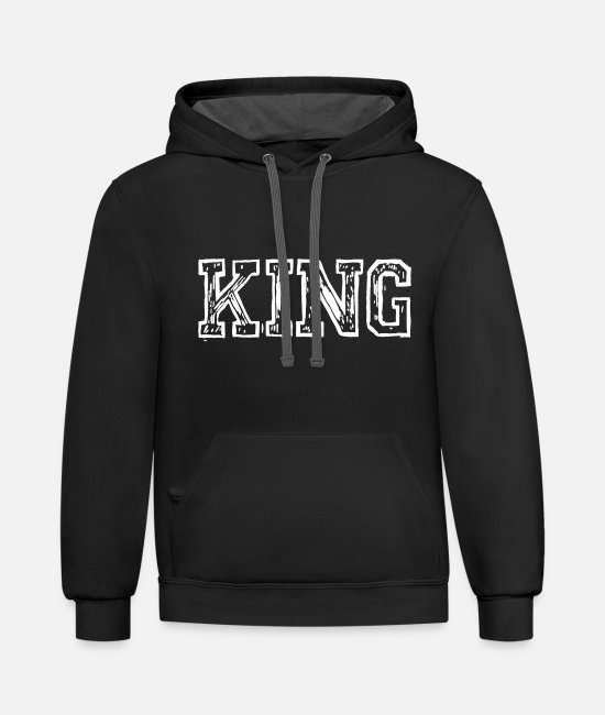 Mob Hoodies & Sweatshirts - KING - Unisex Two-Tone Hoodie black/asphalt