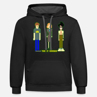 Crowds The IT Crowd - Unisex Two-Tone Hoodie