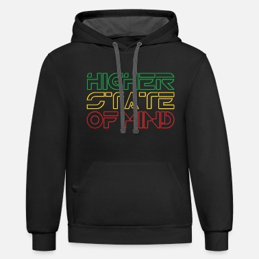 Higher State Of Higher State Of Mind - Unisex Two-Tone Hoodie