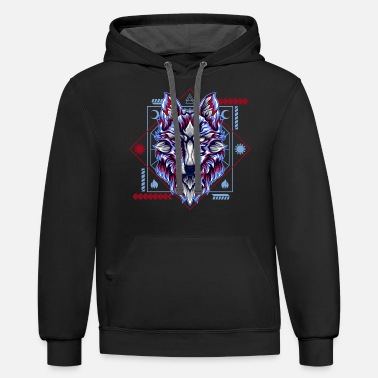 Owl WOLF CARTOON - Unisex Two-Tone Hoodie