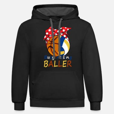 Busy Busy raising ballers basketball volleyball Tshirt - Unisex Two-Tone Hoodie