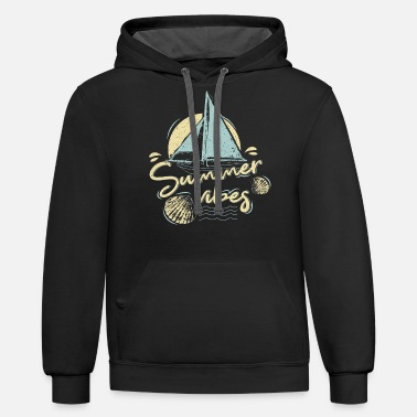 Vacation Sailing - Unisex Two-Tone Hoodie