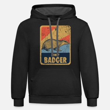 Aggressive badger forest honey - Unisex Two-Tone Hoodie
