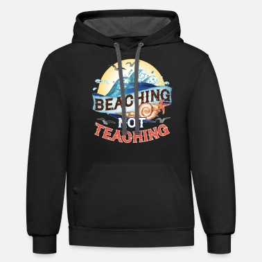 End Funny Teacher End of School Year Beach Summer - Unisex Two-Tone Hoodie