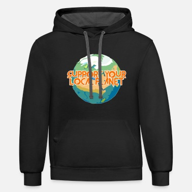 Enviromental Support Your Local Planet Enviromental Protection - Unisex Two-Tone Hoodie
