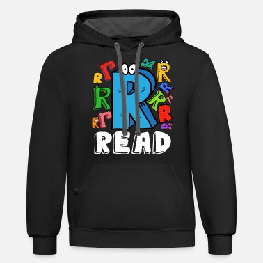 Reading Read Typography English Spanish Teacher Librarian - Unisex Two-Tone Hoodie