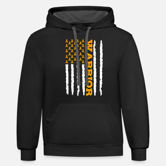 Awareness Hoodies & Sweatshirts - Copd Awareness - Unisex Two-Tone Hoodie black/asphalt
