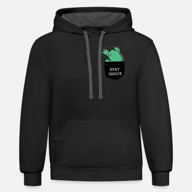 Monster in a Pocket - Unisex Two-Tone Hoodie