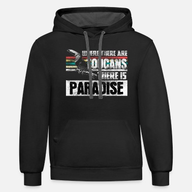 Strike Toucan Vacation gift idea - Unisex Two-Tone Hoodie
