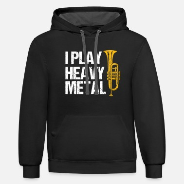 fI Play Heavy Metal Flugelhorn Player Wind - Unisex Two-Tone Hoodie