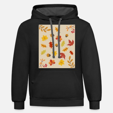 Tendril Pattern Autumn Leaf Pattern Colorful Colors Autumn - Unisex Two-Tone Hoodie