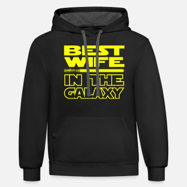 Hooded Sweatshirt Funny Womens Hoodies-Best Girlfriend Galaxy Star Wars
