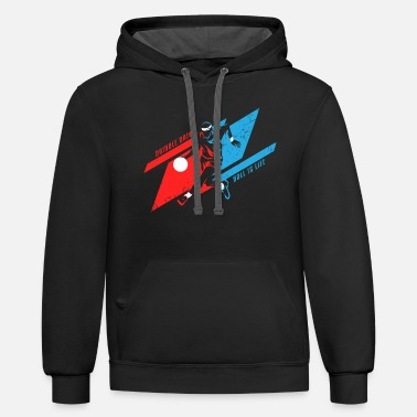 Streetball Basketball - ball is life - Unisex Two-Tone Hoodie