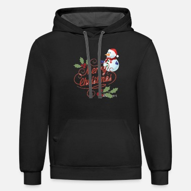 Merry Christmas - Unisex Two-Tone Hoodie