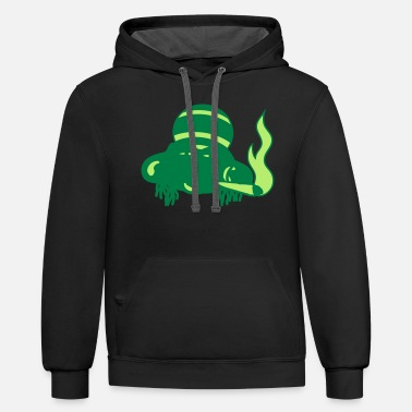head face frog potholder joint hemp weed stoned st - Unisex Two-Tone Hoodie