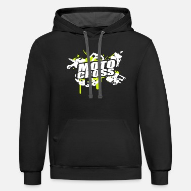 Motor Motorcross Cross Vol.I g/w - Unisex Two-Tone Hoodie