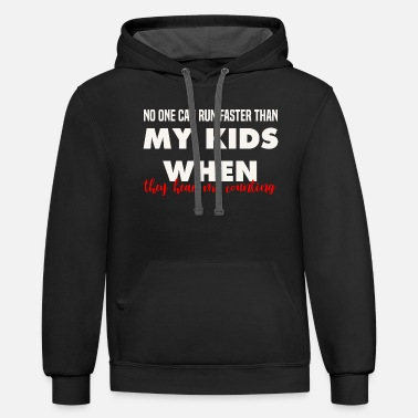 Is Faster Than Funny Parenting Energetic Son Family Home Chaos Co - Unisex Two-Tone Hoodie