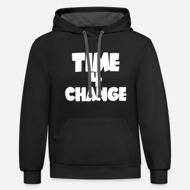 TIME 4 CHANGE - Unisex Two-Tone Hoodie