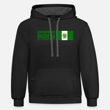 Remember Rhodesia Flag - Unisex Two-Tone Hoodie