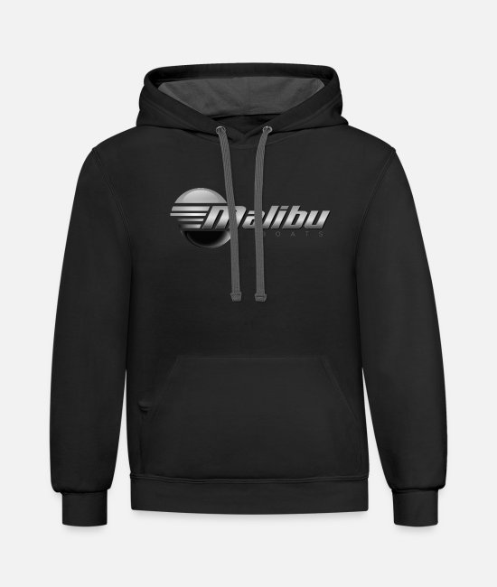 Game Over Hoodies & Sweatshirts - 2012 Malibu Logo Final - Unisex Two-Tone Hoodie black/asphalt