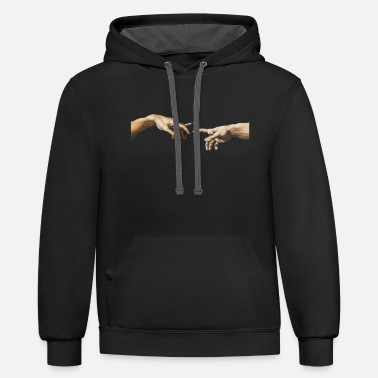 Joint Joint pass - The Creation of Adam - Unisex Two-Tone Hoodie