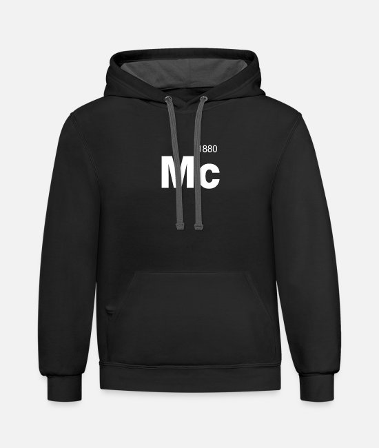 Ball Hoodies & Sweatshirts - Manchester City F.C. 1880 - Unisex Two-Tone Hoodie black/asphalt