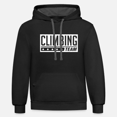 Clilmber team climbing1 - Unisex Two-Tone Hoodie