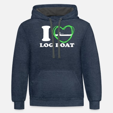 Captain I LOVE MY LOG BOAT LOG BOATS LOVERS - Unisex Two-Tone Hoodie