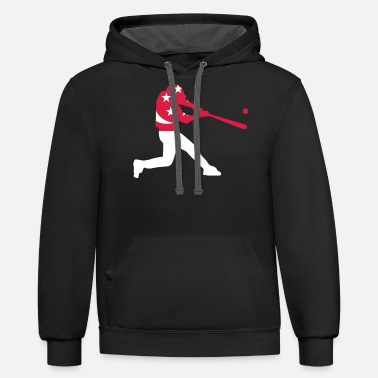 Dialect Singapore Baseball Team - Unisex Two-Tone Hoodie