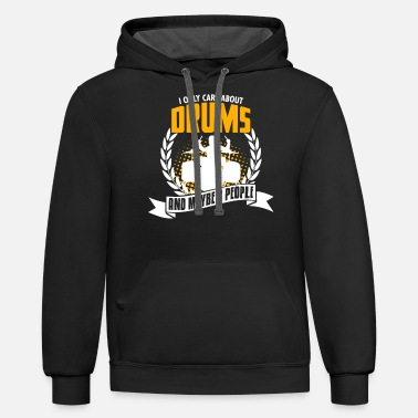Trommer Funny Drums Tee Christmas Present - Unisex Two-Tone Hoodie