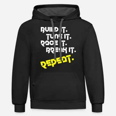 Race Car Driver Car Tuning Racing Driver - Unisex Two-Tone Hoodie