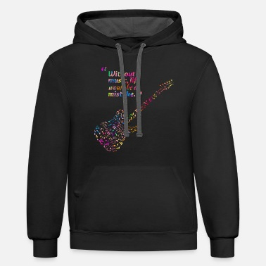 Music is life - Unisex Two-Tone Hoodie