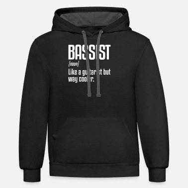 Bassist Bassist Definition | Bass Player, Bass Instrument - Unisex Two-Tone Hoodie