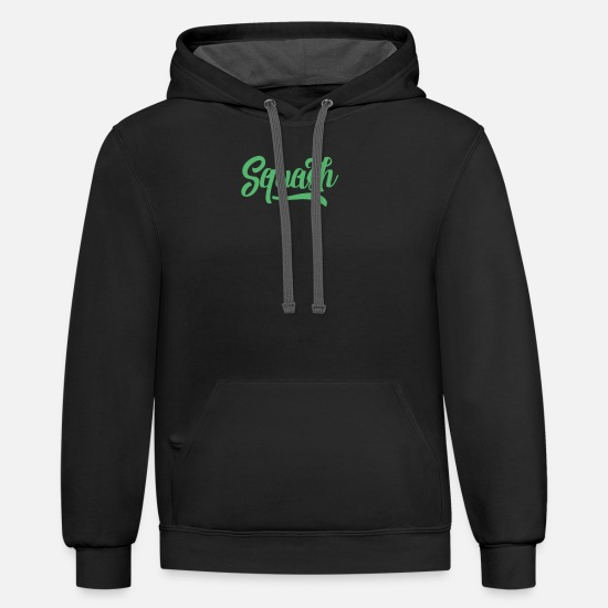 Squash Hoodies & Sweatshirts - Squash Squash Racket Squashing TeaM Squash Player - Unisex Two-Tone Hoodie black/asphalt