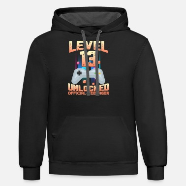 Official Official Teenager 13th Birthday T Shirt Level 13 - Unisex Two-Tone Hoodie