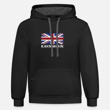 Union Jack London Union Jack Great Britain Brexit gift - Unisex Two-Tone Hoodie