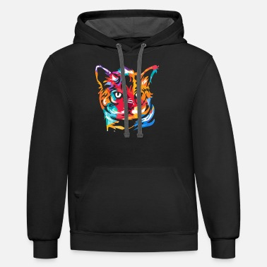 Asian Bengal Cat - Unisex Two-Tone Hoodie